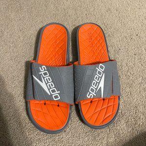Speedo Sandals Sz 12 - Orange and Gray